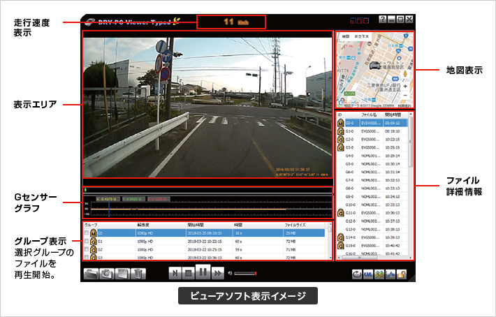ADR-200c 記録映像|ドライブレコーダー|Yupiteru(ユピテル)