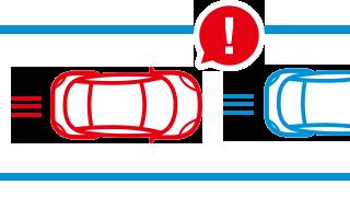 前方車接近警告