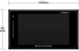 A360α レーダー探知機 レーザー光 オービス